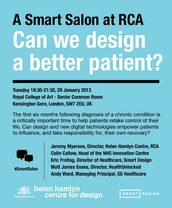 A Smart Salon at RCA: Can we design better patients?