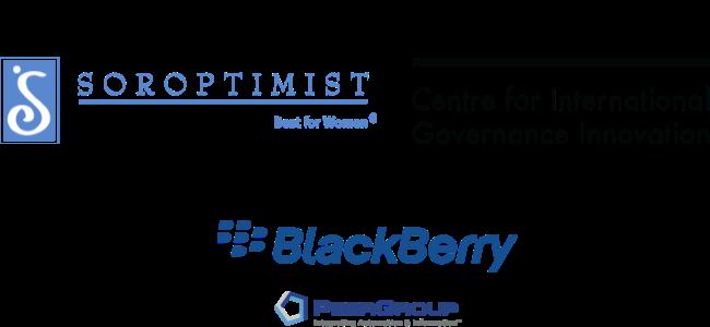 Soroptimist, CIGI, Blackberry and PeerGroup Logos