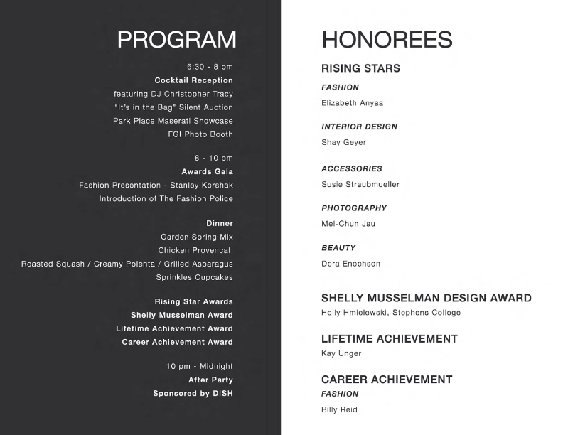 Night of Stars 2013 Program