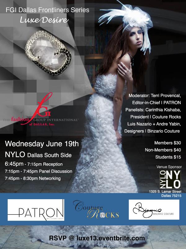 FGI Dallas Luxe Desire High Jewelry High Fashion Program