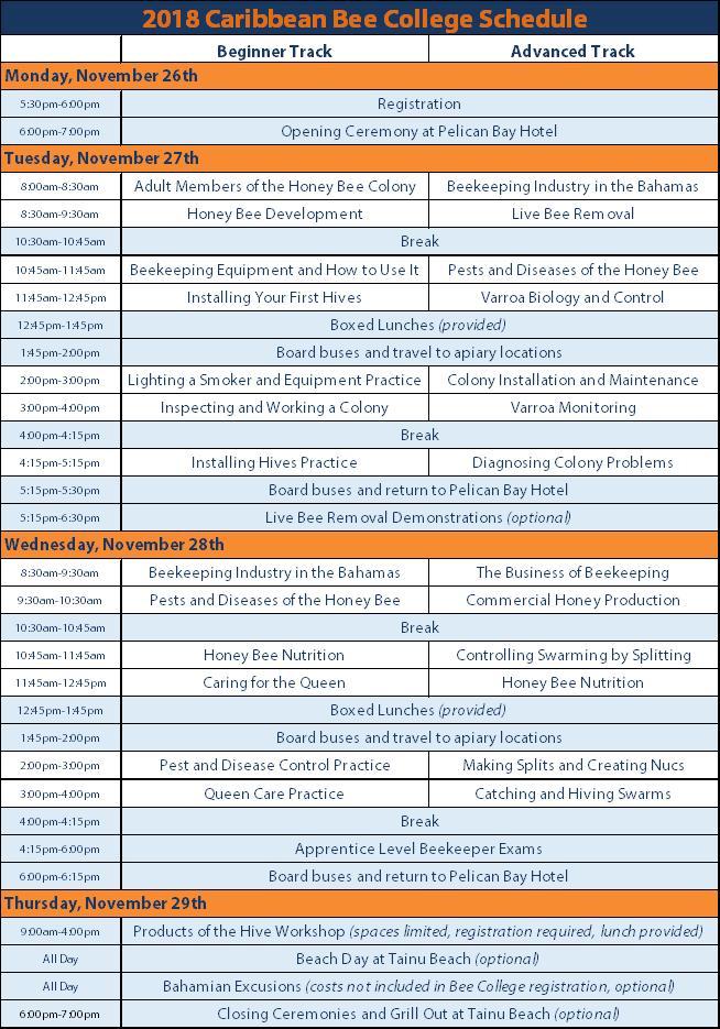 CBC Tentative Schedule