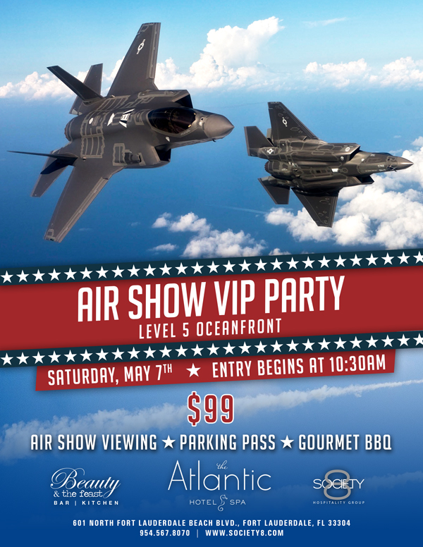 Air show vip party at the atlantic hotel spa tickets for Pool and spa show atlantic city 2016