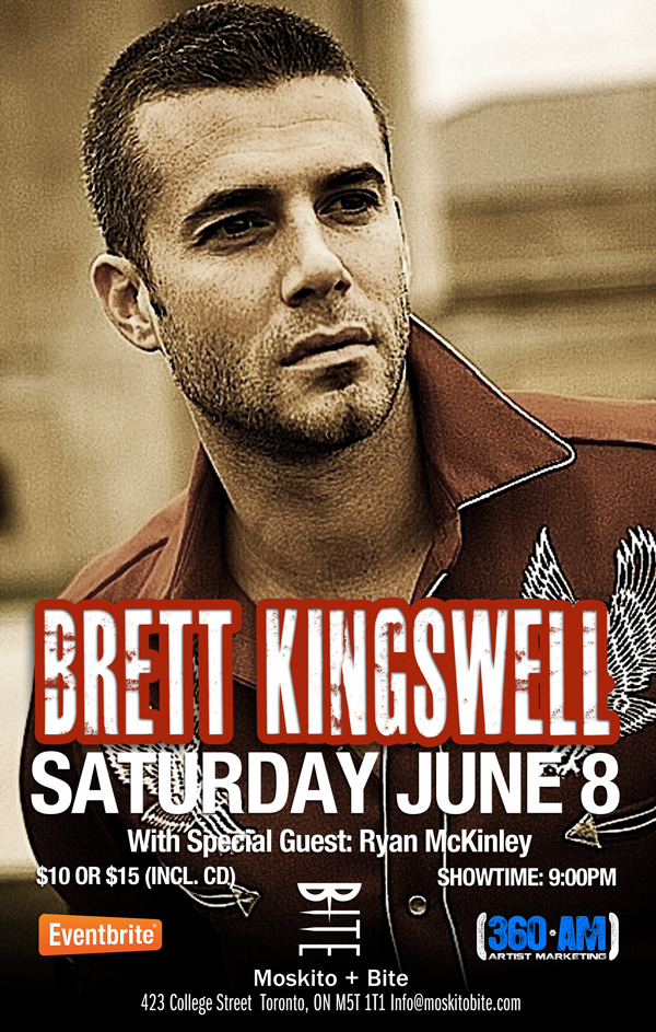 Brett Kingswell Live June 8 @ Moskito + Bite