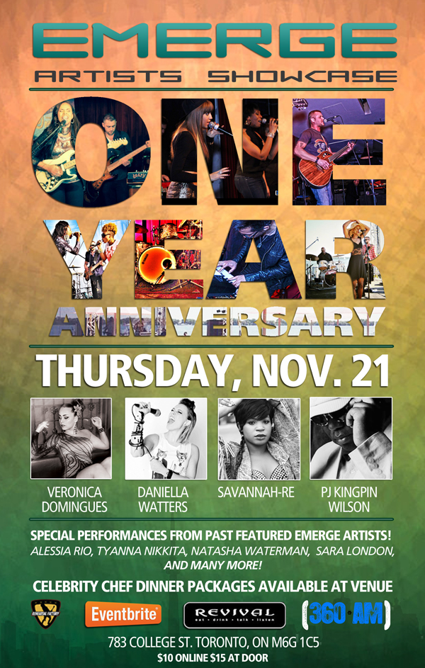 EMERGE ARTISTS SHOWCASE ONE YEAR ANNIVERSARY