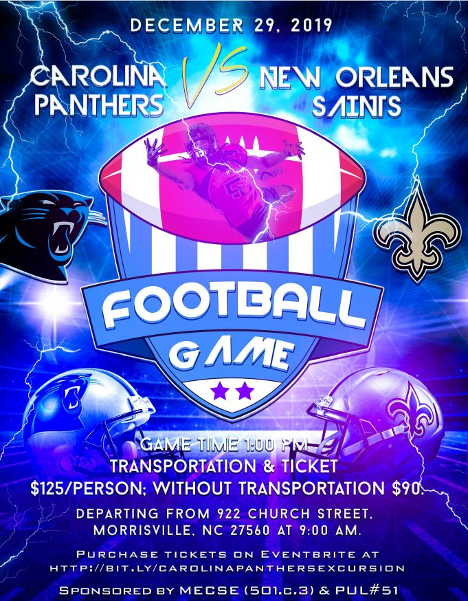 YOU ARE INVITED TO A BUS TRIP TO PANTHERS GAME!