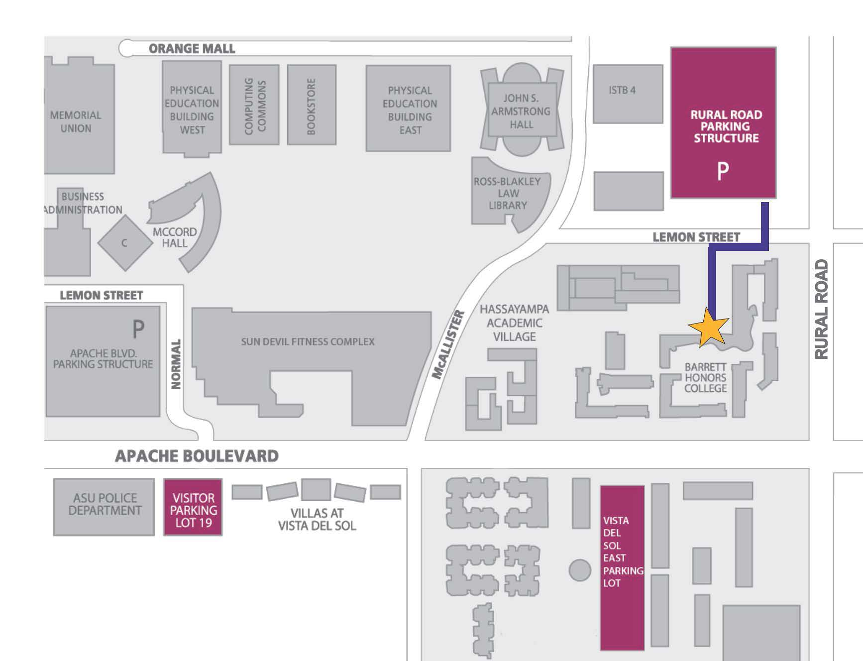 barrett parking map
