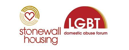 logo for stonewall housing and LGBTDAF