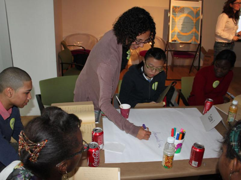 Sharing and discussing student work examples