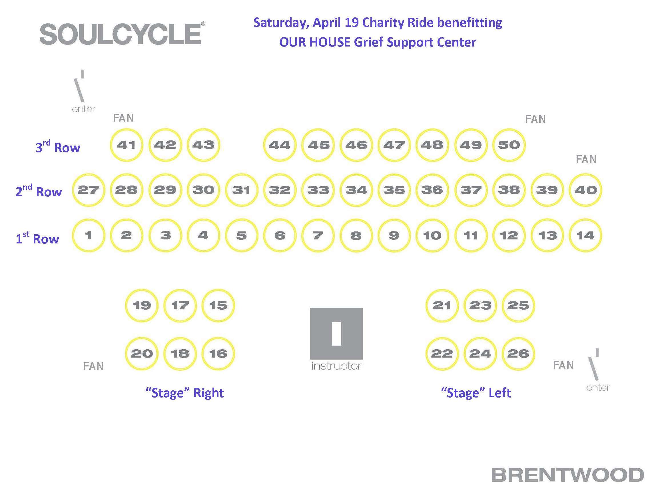 SoulCycle Bike Map