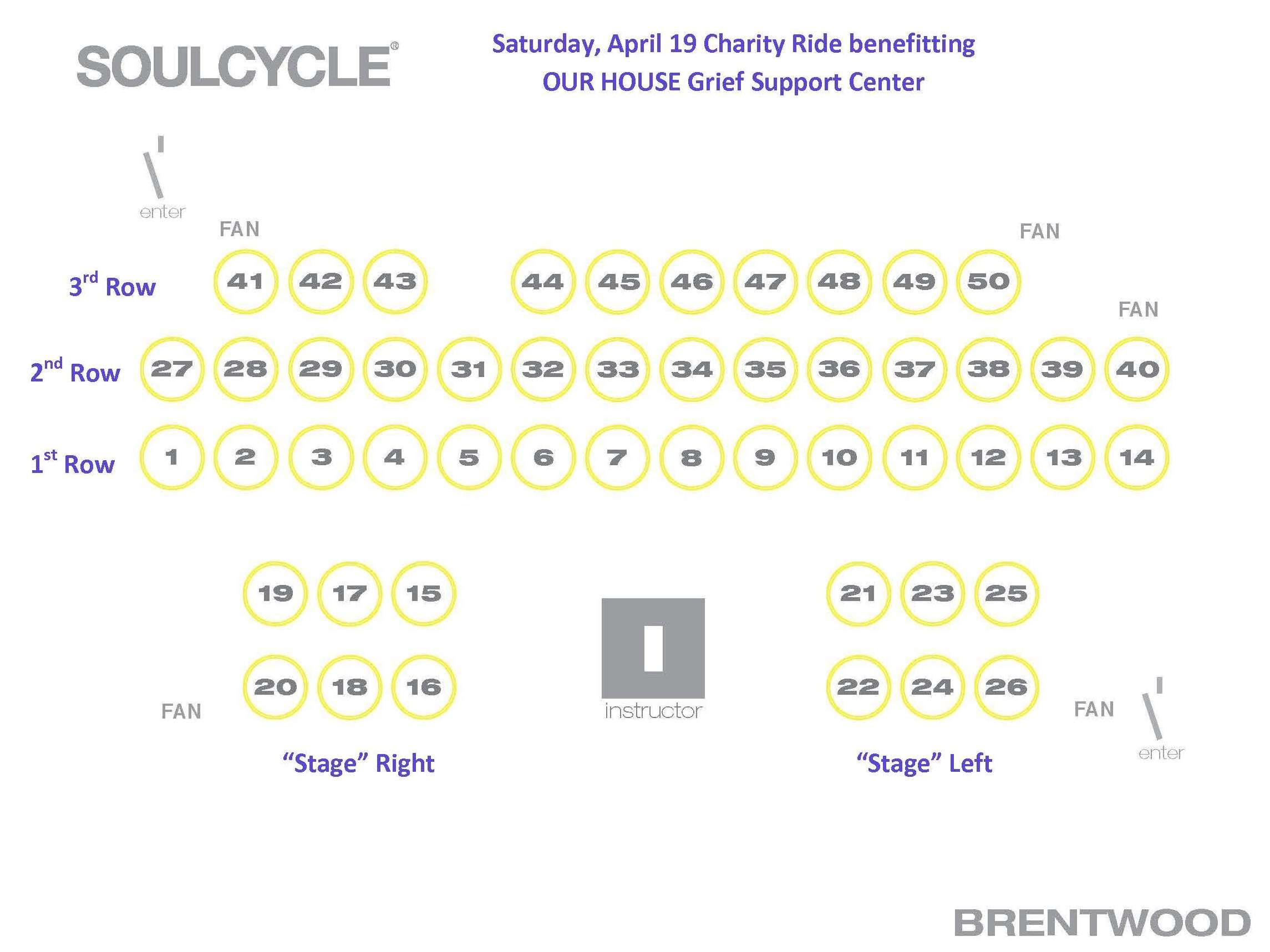 SoulCycle Bike Map