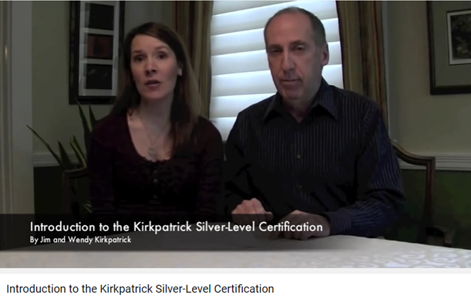 Jim and Wendy Kirkpatrick Silver Certification