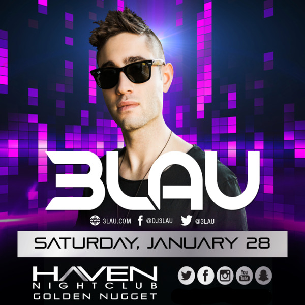 1/28 #3LAU Party! ★ #Haven #Nightclub #AC Get in now before it goes up!