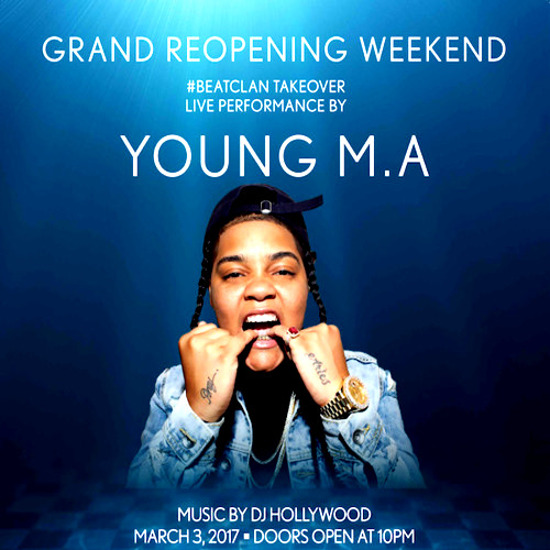 3/3 - Young M.A Reduced Only The Pool After Dark - Pre-Sale tickets will be cheaper than Guest List!