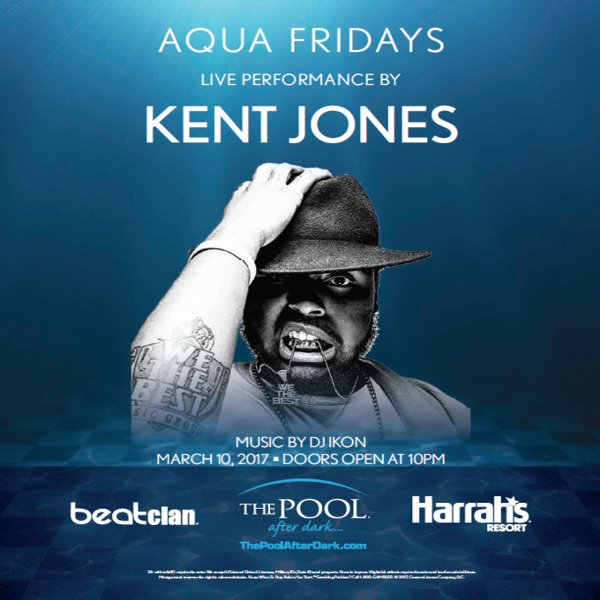 3/10 KENT JONES Performing LIVE! Signup for Free Admission The Pool After Dark, Atlantic City.