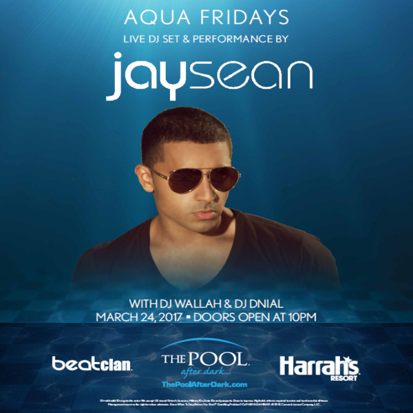 JaySean Performing LIVE! 3/24 Friday Get on the List for FREE Admission!