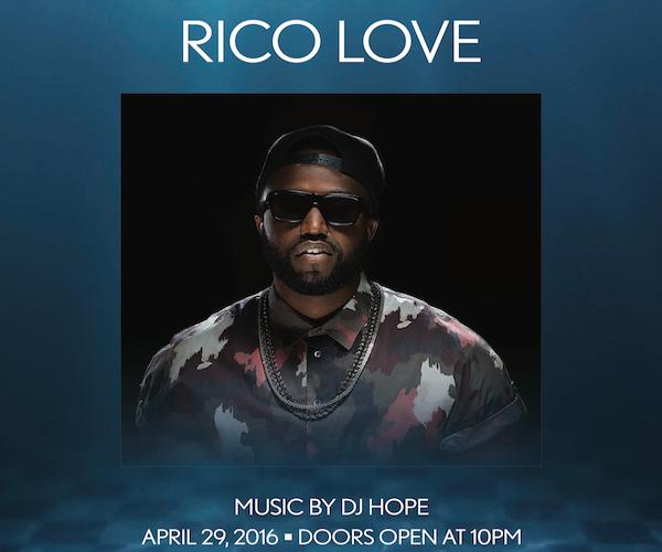 Rico Love - The Pool After Dark 4/29 Aqua Friday, Free Admission #Guestlist