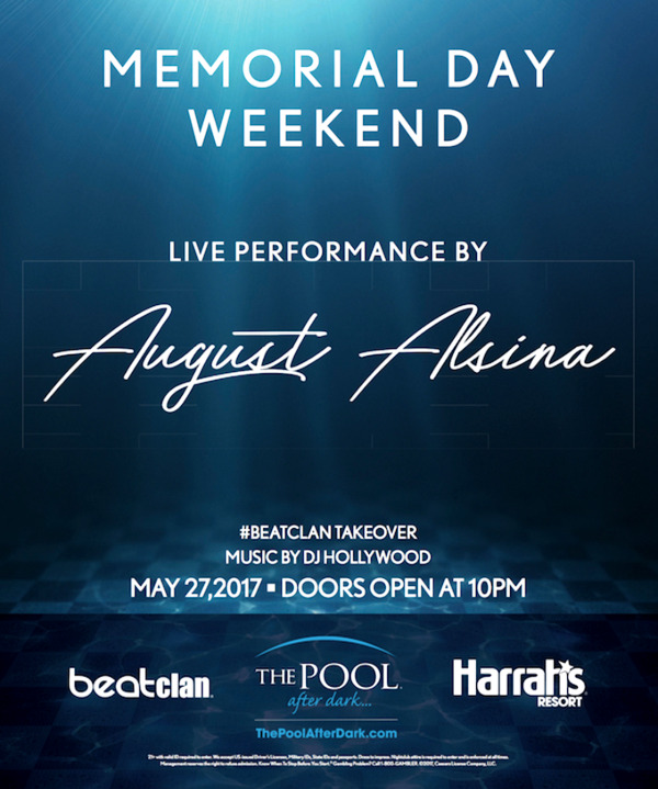 AUGUST ALSINA Performing Live! at The Pool After Dark for #MDW #Saturday 5/27 $10 off admission!
