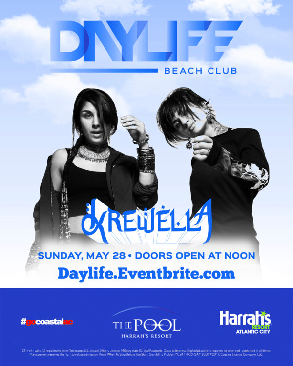 5/28 Day-Life! Krewella Performing Live! 12pm-8pm Pool Party MDW 2017 - Pre-Sale Tickets!
