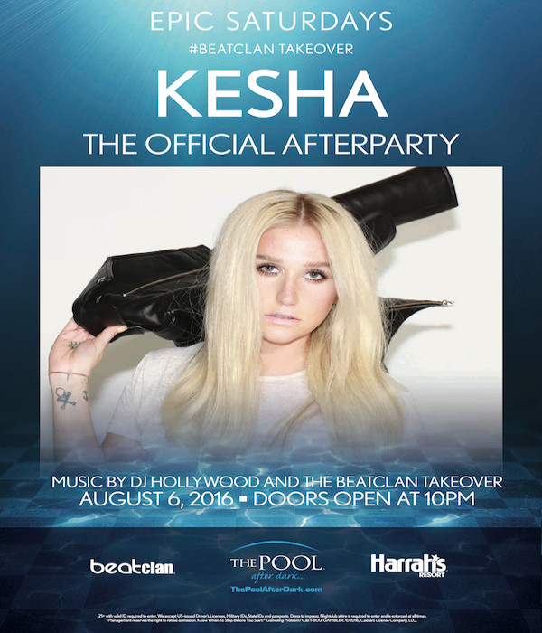 8/6 Kesha ❤ Official AfterParty! ThePoolAfterDark AtlanticCity Discount Admission Guest List