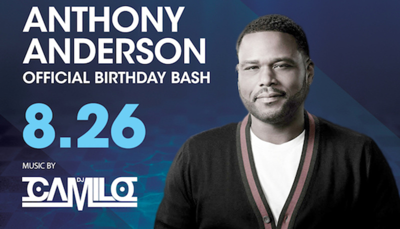 Anthony Anderson Official Birthday Bash! DJ Camilo Silent Jersey 8/26 Pool After Dark Atlantic City Guest list Discount Admission