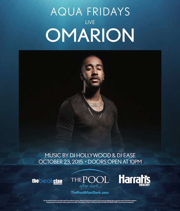 Omarion - The Pool After Dark 10/23 Aqua Fridays, Free Admission #Guestlist