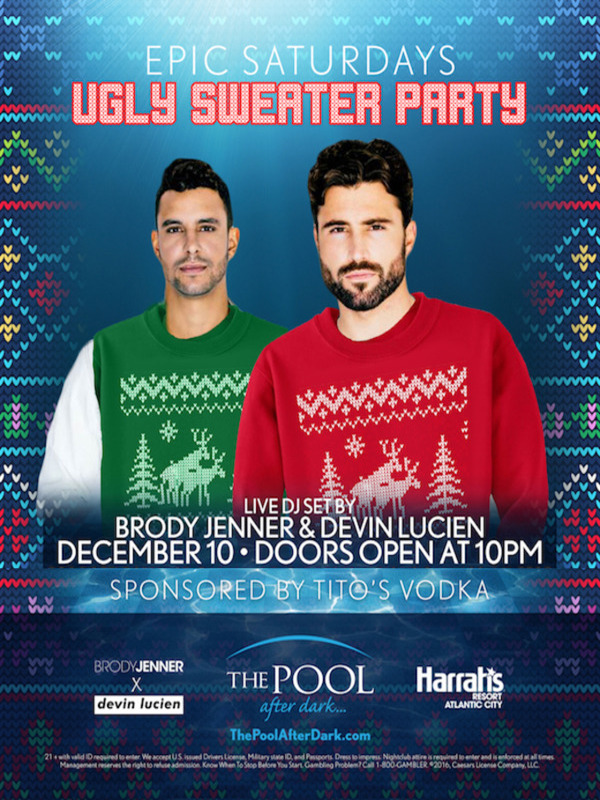BRODY JENNER ♠ Ugly Sweater Party! 12/10 #PoolAfterDark Discount Admission
