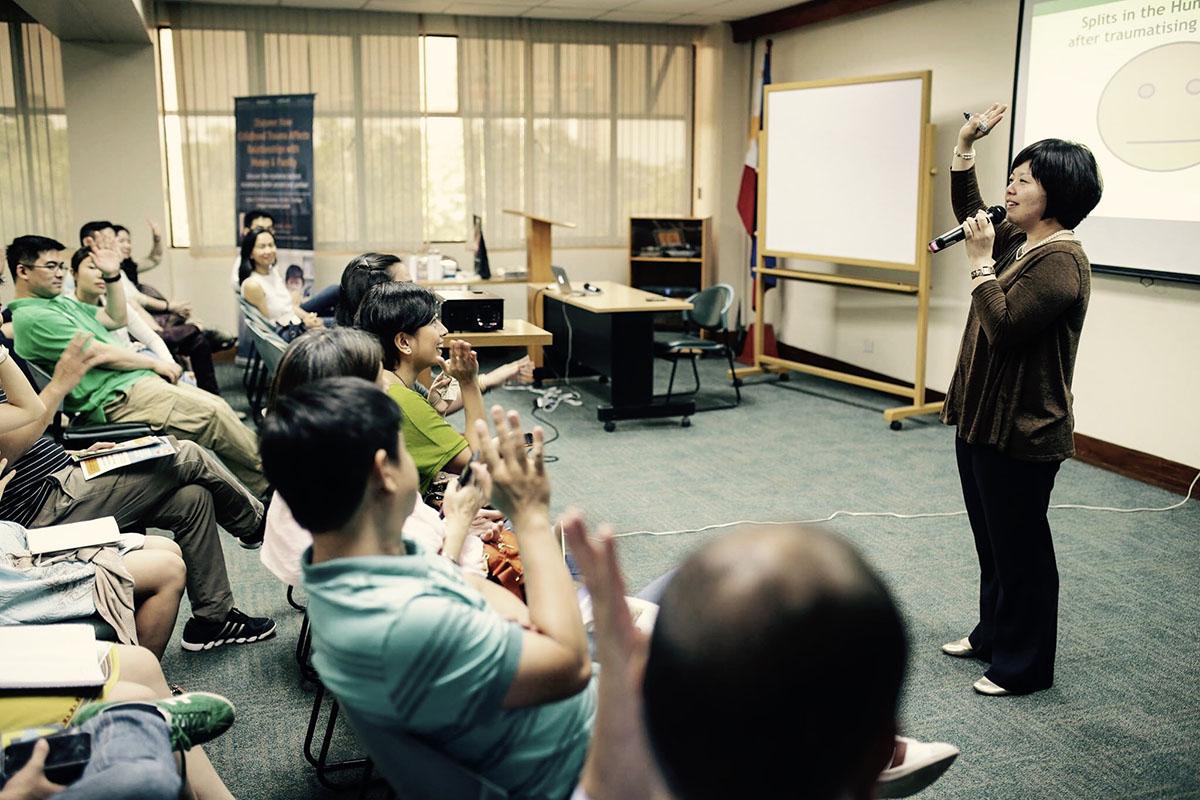 Christine running a workshop