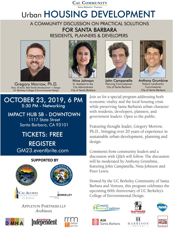 UC Berkeley Housing Development Symposium in Santa Barbara - October 23, 2019