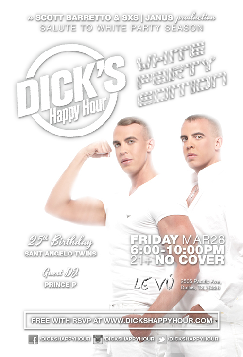 Dick's Happy Hour - March 28 White Party LEVU