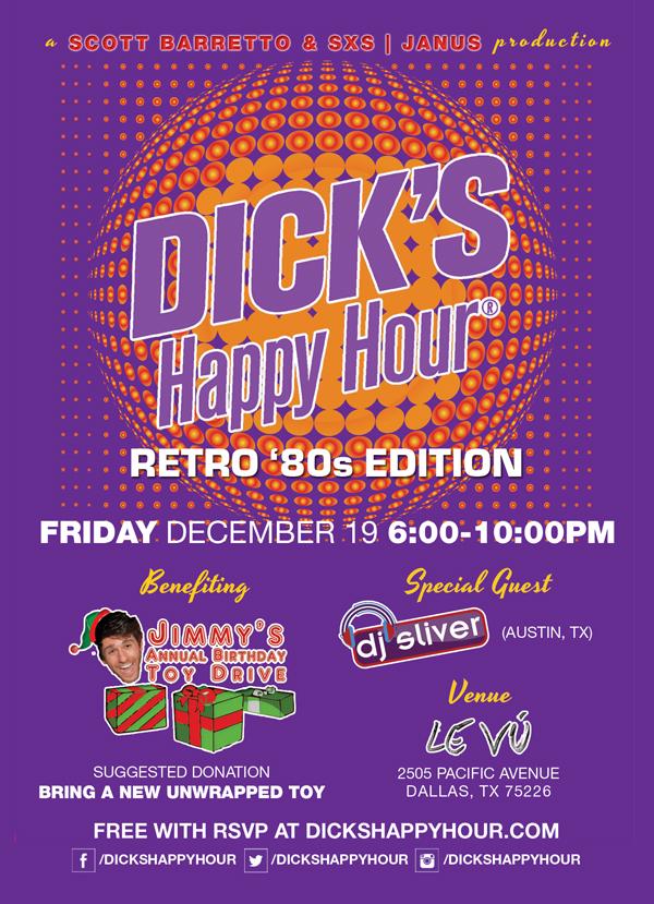 Dick's Happy Hour Flyer December 19 LEVU