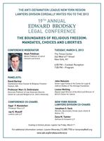 The 19th Annual Edward Brodsky Legal Conference: The...