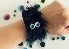 Furry monster wristband