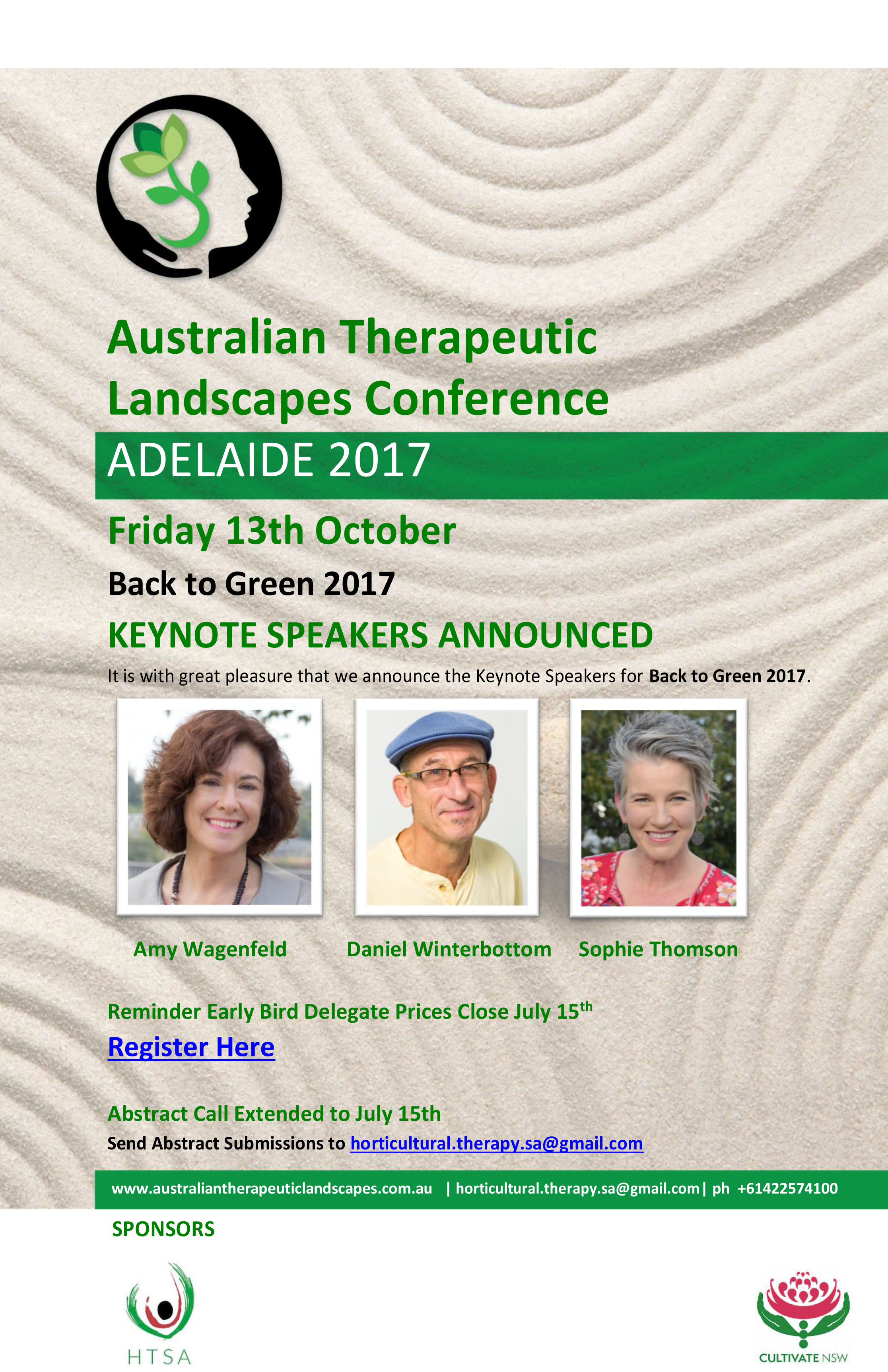 Australian Therapeutic Landscapes Conference 2017 Keynotes