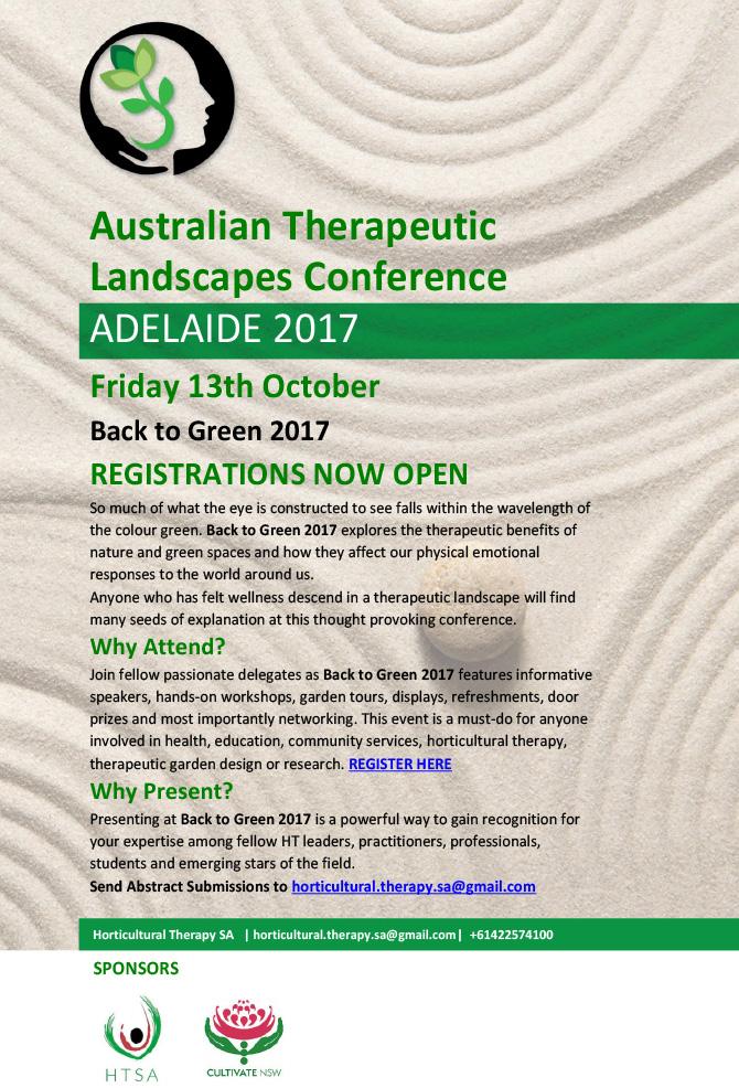 Australian Therapeutic Landscapes 2017 Registration
