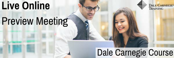 Live Online Dale Carnegie Course - Preview