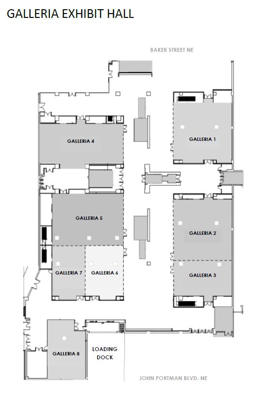 Hilton Atlanta Galleria Floorplan