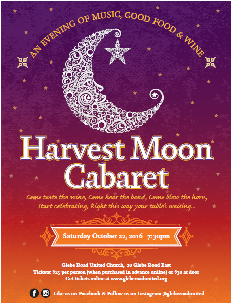 Harvest Moon Cabaret - A fundraiser for Glebe Road United Church
