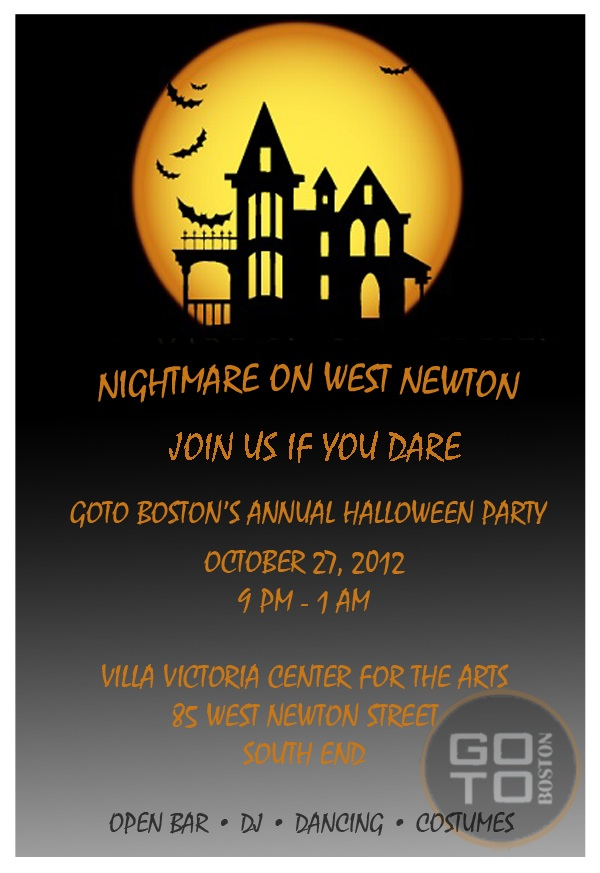 GOTO Boston Halloween Invitation