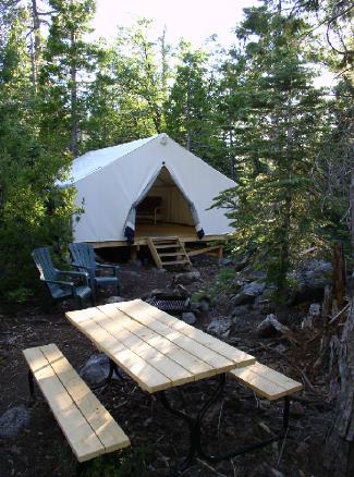 tent cabin exterior