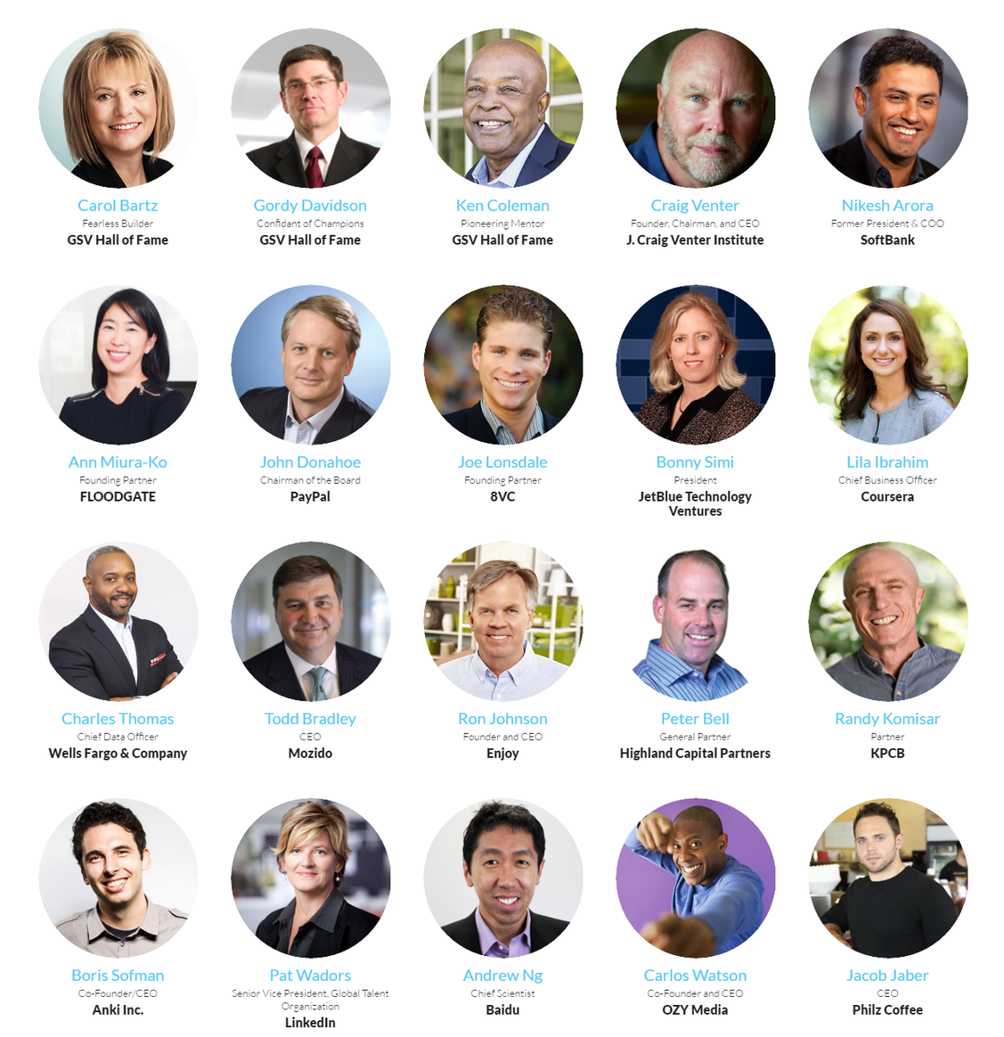 Pioneer Summit 2016 Major Speakers