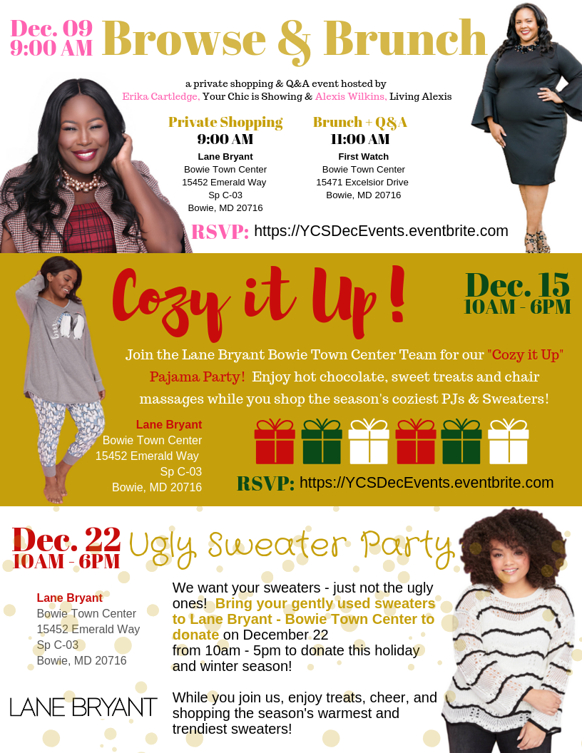 3ca1fc5416e The end of 2018 is upon us and Your Chic is Showing has a December to  Remember to help you close out the year with a bang!! Check out our  upcoming events ...