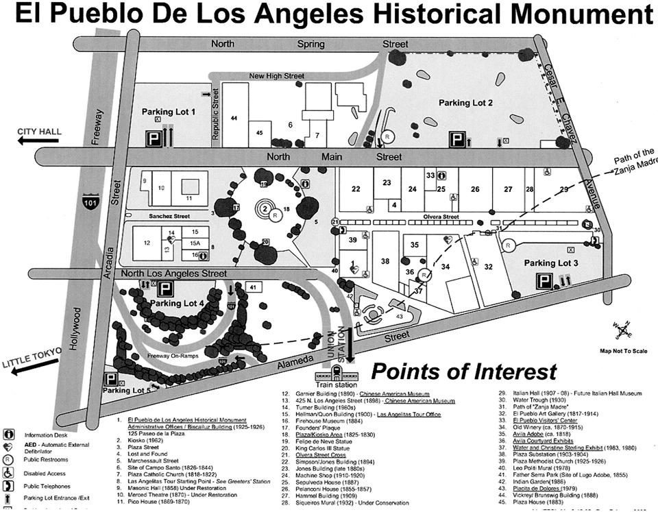 El Pueblo Map and Legend