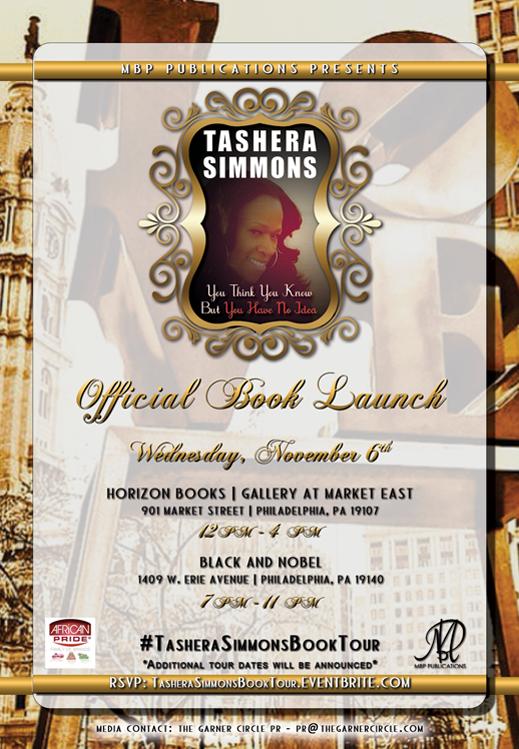 Tashera Simmons Philadelphia Book Tour Release