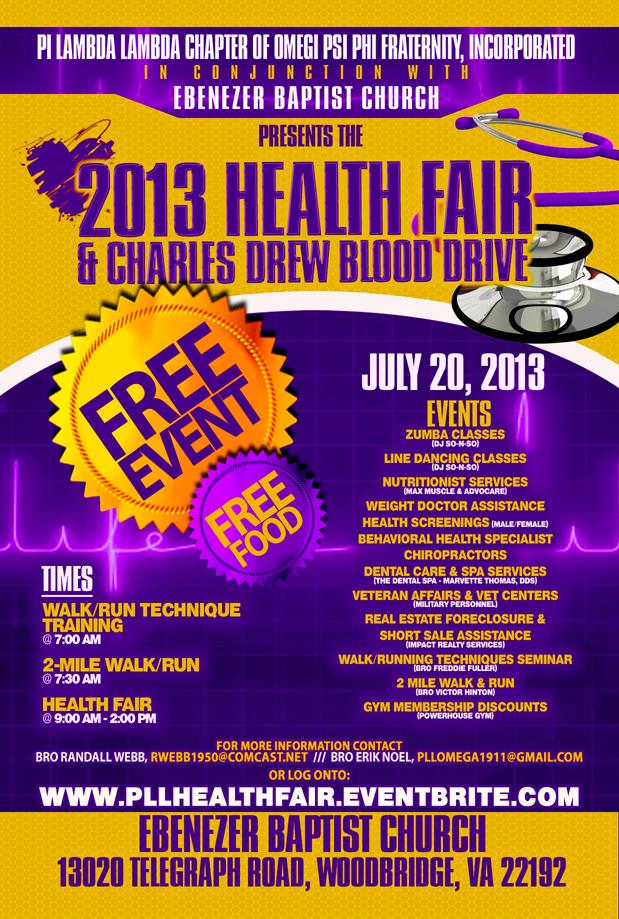 2013 PLL u0026 Ebenezer Baptist Church Health Fair in ...