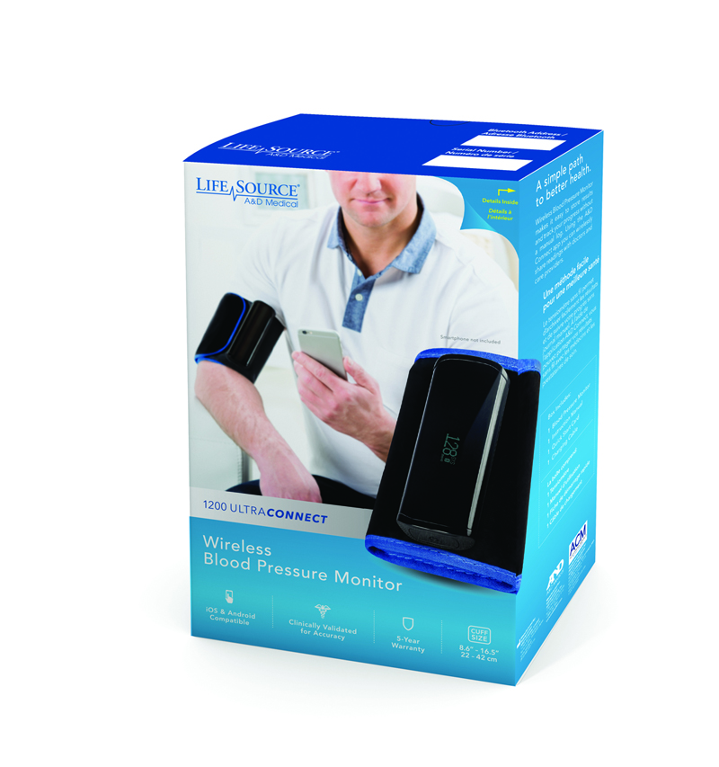 wireless blood pressure unit to measure heart rate