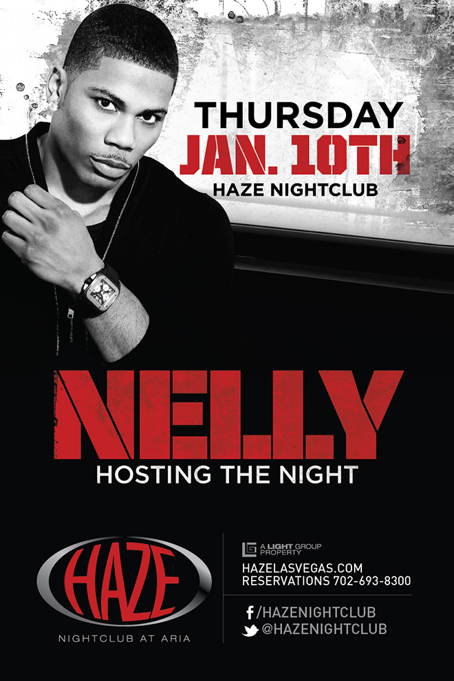 Nelly Hosts the night at HAZE Nightclub in Las Vegas at the Aria Resort & Casino