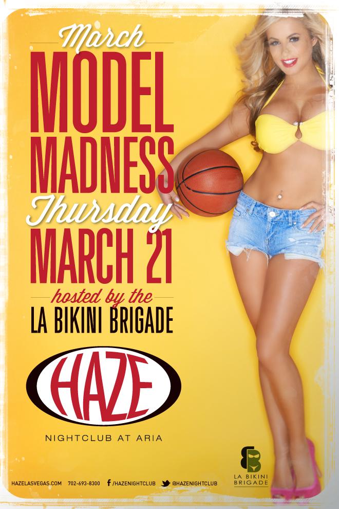 Models take over HAZE Nightclub in Las Vegas