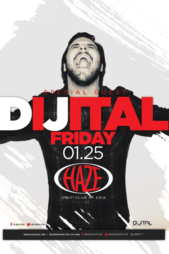 DJ Dijital Guest DJ set at HAZE Nightclub in Las Vegas at the ARIA Resort & Casino
