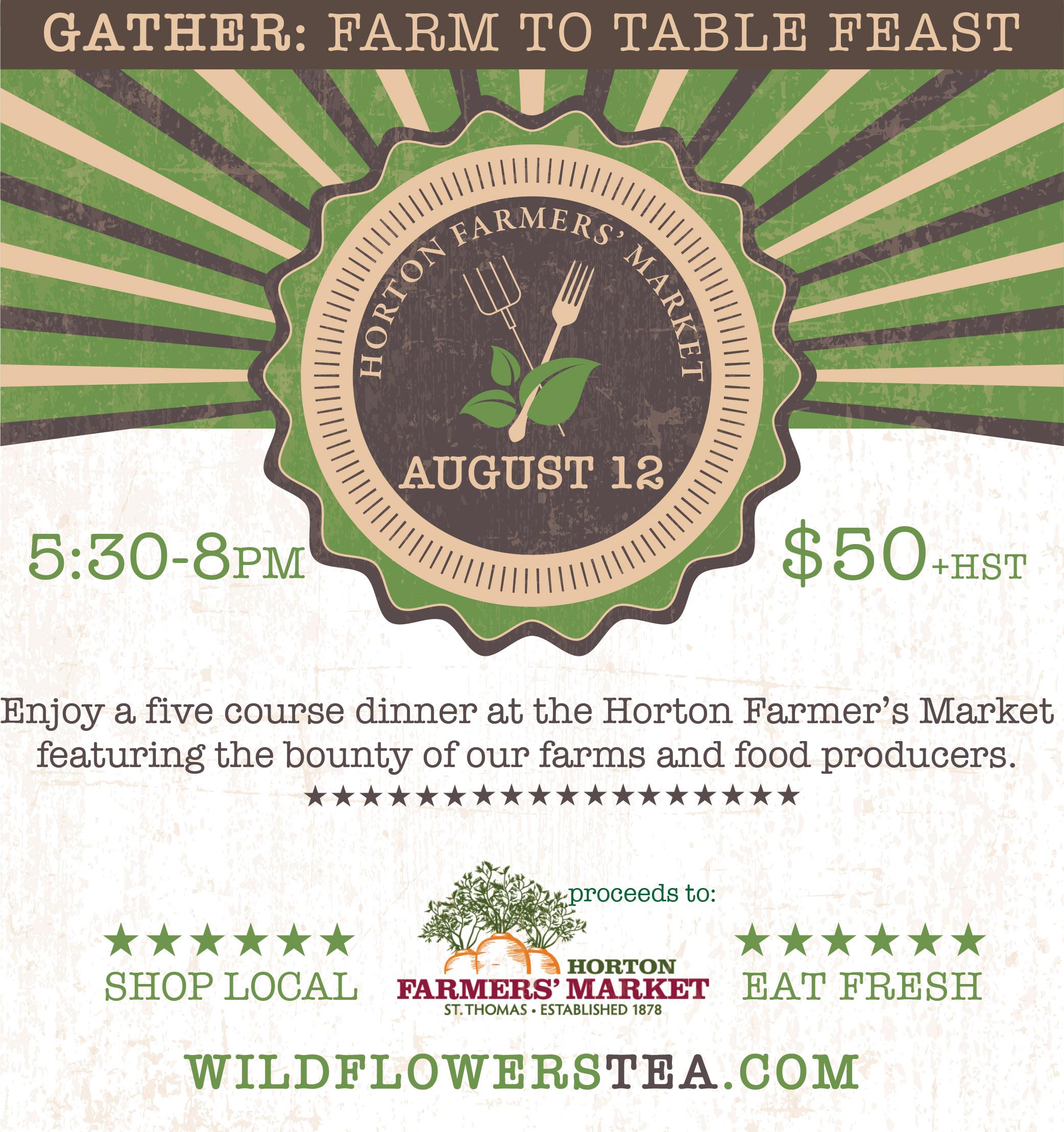 Gather: Farm to Table Feast at the Horton Farmers' Market
