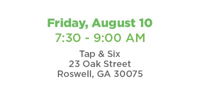 Coffee Connect August 10,2018 @ Tap & Six